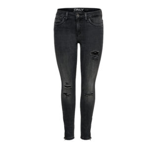 KENDELL ANKLE ZIP GREY DNM JEANS CRE