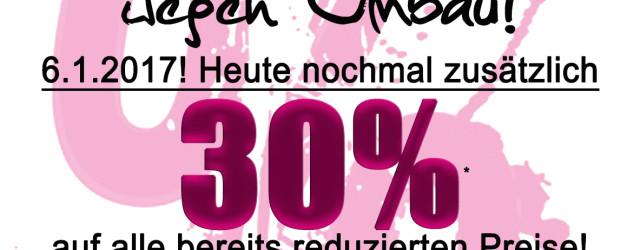 30% Extra-Rabatt auf SALE!