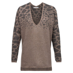 long-animal-print-sweater-with-double-v-neck