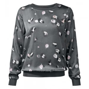 silk-touch-blouson-top-nature-dot-print-with-jersey-details