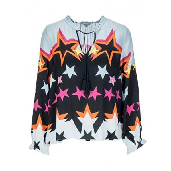 Blouse with big star print