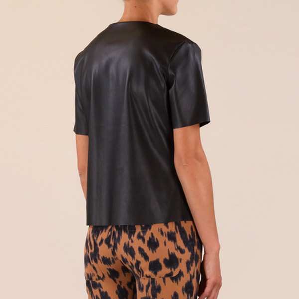 Mix Faux Leather Top3